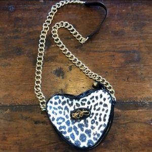 Cute heart shaped betsy Johnson cross body bag
